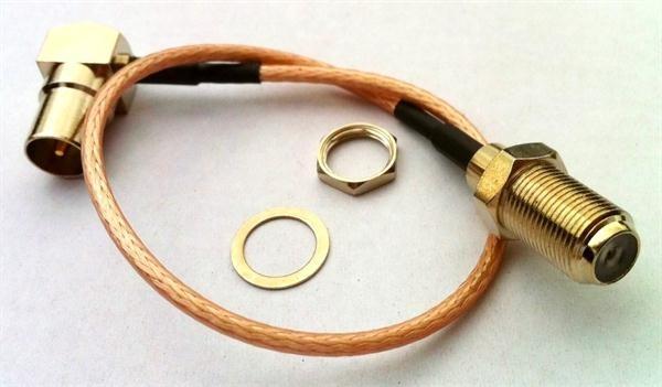 HF Kabel IEC Stecker auf F Buchse 26cm