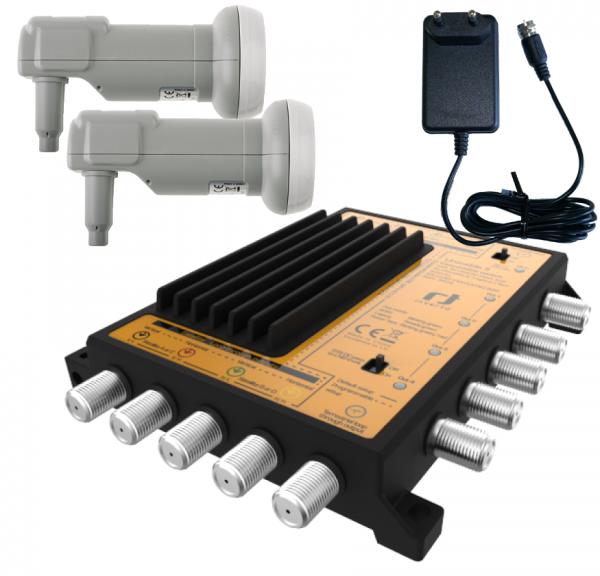 Unicable II Set 4x16 - 2 Satelliten - Wideband LNB