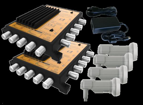Unicable II Set 4x16 - 4 Satelliten - Wideband LNB