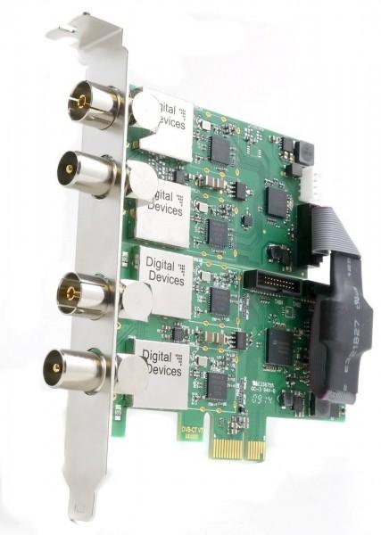 4 Tuner TV Karte DVB-C/C2/T/T2 für PCIe (Set) - DD Cine C2T2 V7 & DuoFlex C2T2 V3