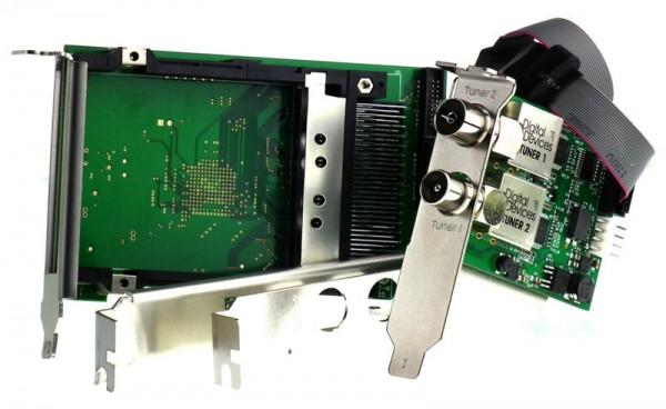 Twin Tuner TV Karte DVB-C/C2/T/T2 (Doppel CI Bridge) - DD Octopus Twin CI & DuoFlex C/C2/T/T2