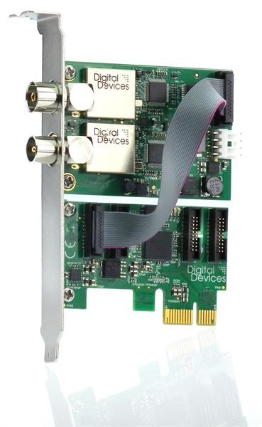 Twin Tuner TV Karte DuoFlex C/C2/T/T2/ISDB-T (V3) & Octopus PCIe Bridge (V3) (SET)