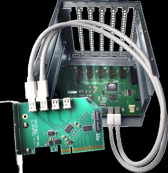 DD ExpandIO Intern - 6x PCIe Gen 2.0 Expander / Backplane inkl 2x 50cm Dataport Kabel
