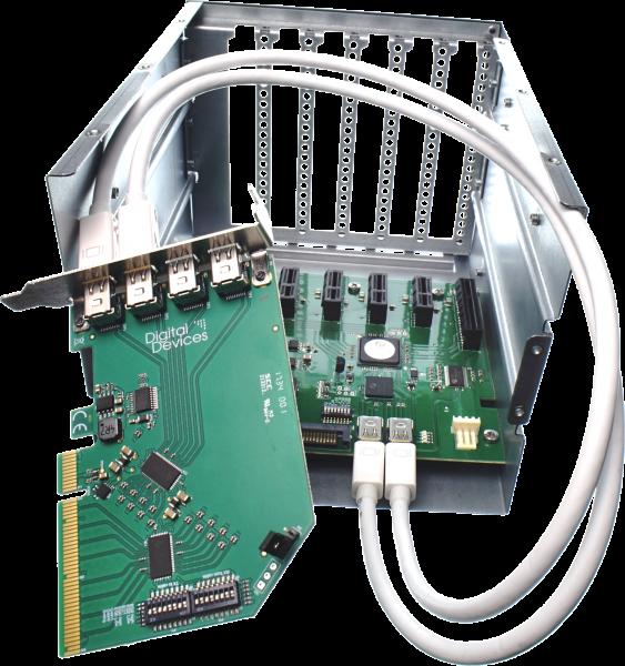 DD ExpandIO Extern - 6x PCIe Gen 2.0 Expander / Backplane inkl 2x 180cm Dataport Kabel