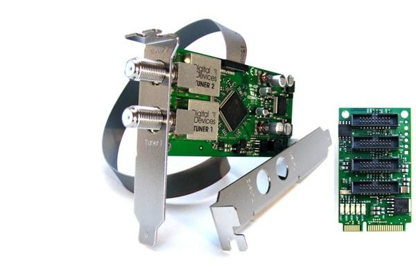 Twin Tuner TV Karte DVB-S/S2 (4 Port Bridge) - DD DuoFlex S2 Octopus mini PCIe