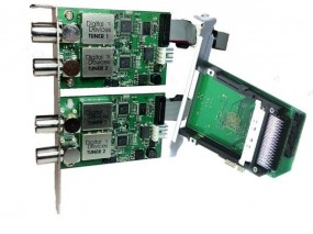 2x DuoFlex C2T2 Octopus Twin CI (Set) - 4 Tuner DVB-C2T2 + 2x CI Slot für PCIe