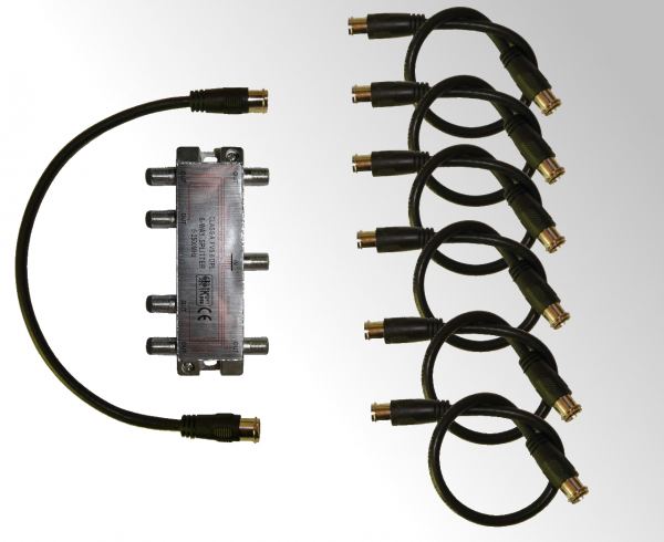 SAT Splitter for UniCable 6-fold - Set