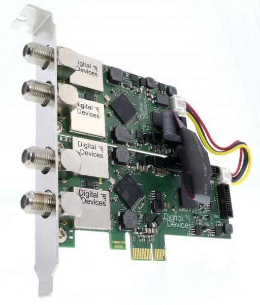 4 Tuner TV Karte DVB-S/S2 für PCIe (Set) - DD Cine S2 V7A & DuoFlex S2 V4A