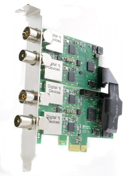 DD Cine C2T2I V7 & DuoFlex C2T2I V3 (SET) - 4 Tuner DVB-C/C2/T/T2/ISDB-T for PCIe