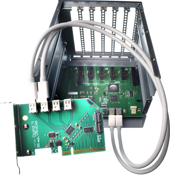 DD ExpandIO Internal - 6x PCIe Gen 2.0 Expander / Backplane including 2x 50cm Dataport cable
