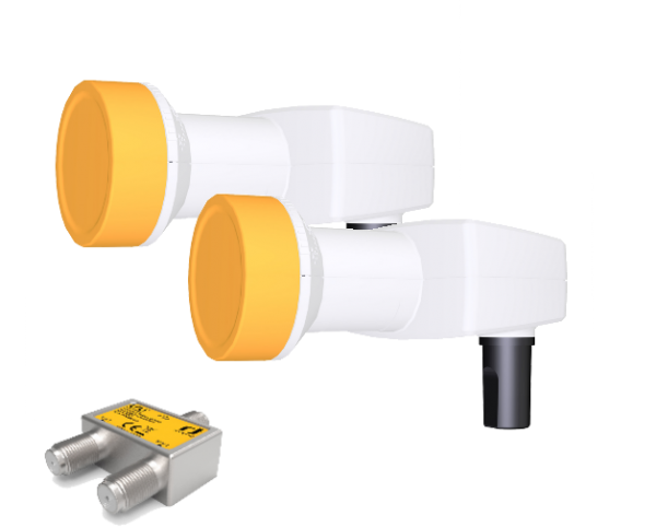 Unicable II Set - 2 Satelliten - Unicable LNB