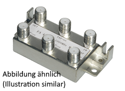 Antenna splitter 4x for DVB-C/C2 | DVB-T/T2