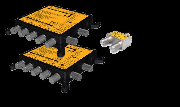 Unicable II Set - 2 Satelliten - Quattro LNB